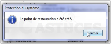 Comment créer un point de restauration sous Windows  10
