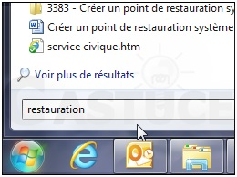 Comment créer un point de restauration sous Windows  7