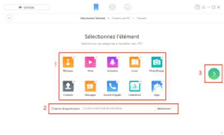 Comment transférer les données Android vers PC avec AnyTrans pour Android Étape 5