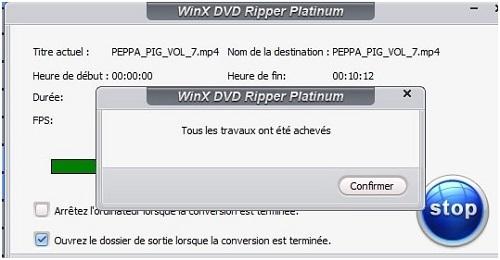 WinX DVD Ripper Platinum Fin de l'opération 2