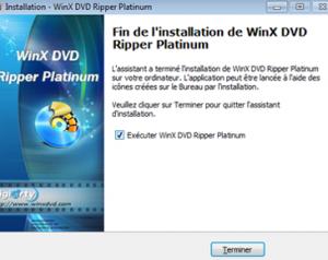 WinX DVD Ripper Platinum le démarrage 2