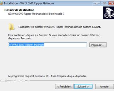 WinX DVD Ripper Platinum le démarrage