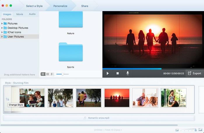 L'édition des fichiers sélectionnés Fotophire Slideshow Maker
