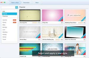Le choix du modèle de diaporama Fotophire Slideshow Maker