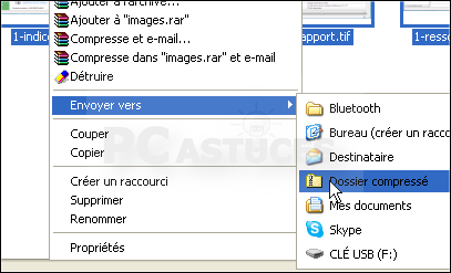 Cliquez sur l'option Dossier compressé
