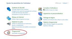 Comment supprimer ou désinstaller un programme sur Windows 10 Etape 3