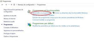 Comment supprimer ou désinstaller un programme sur Windows 10 Etape 4