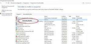 Comment supprimer ou désinstaller un programme sur Windows 10 Etape 5