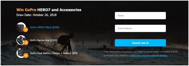 Gagnez une GoPro Hero7 à l'occasion du lancement de VideoProc