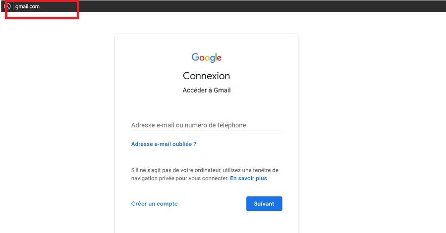 Aller sur la plateforme de Gmail