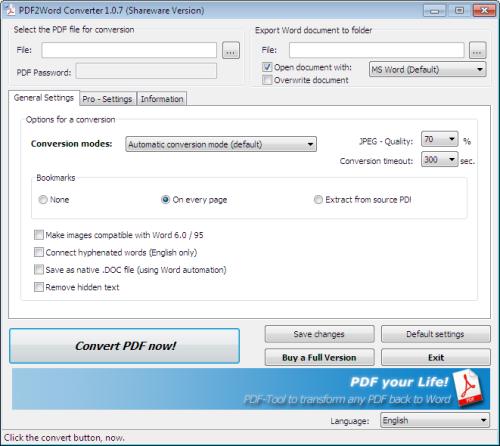 BullZip PDF Printer logiciels pour convertir un fichier en PDF