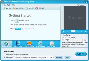 Coolmuster PDF Converter logiciels pour convertir un fichier en PDF