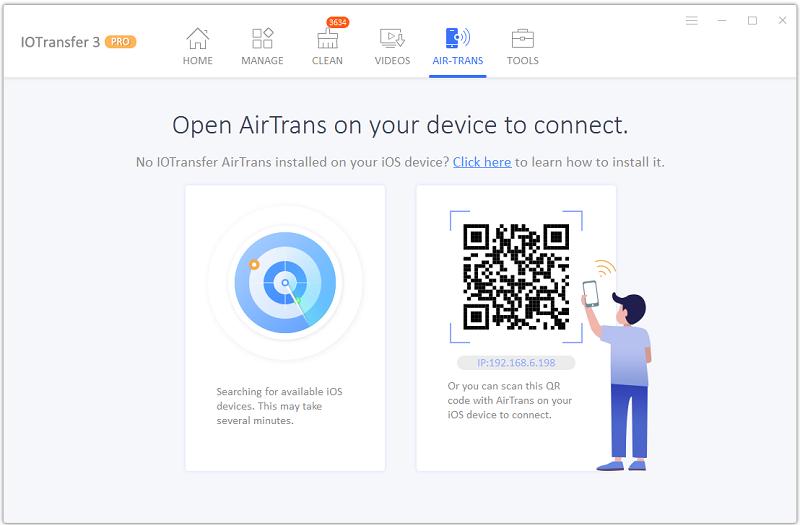 IOTransfer 3 AirTrans, pour faire des transferts sans fil
