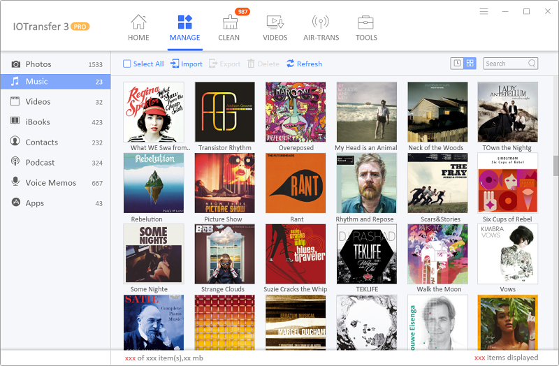 IOTransfer 3 Gestion de la musique sur iPhone