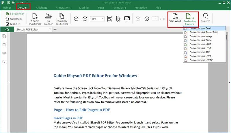 PDF Editor6 Professionnel pour Windows logiciels pour convertir un fichier en PDF