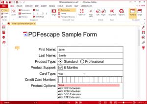 PDFescape éditeur PDF