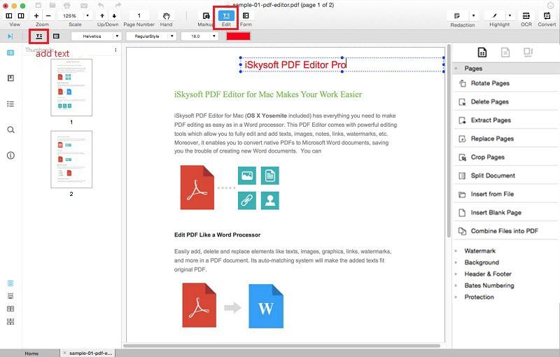 iSkysoft PDF Creator pour Mac logiciels pour convertir un fichier en PDF