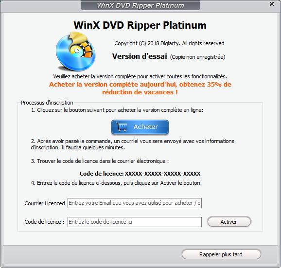 Téléchargez et installez gratuitement WinX DVD Ripper