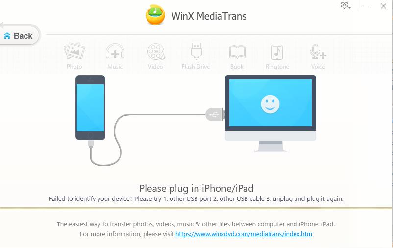 choisir les photos à transférer et procéder au lancement de WinX MediaTrans