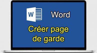 Comment créer une page de garde sur Word