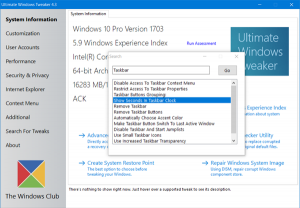 Ultimate Windows Tweaker 4 meilleurs outils pour personnaliser Windows 10