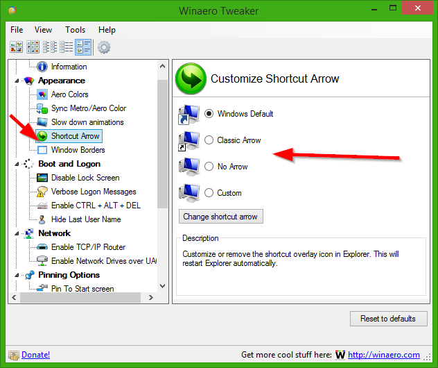 Winaero Tweaker meilleurs outils pour personnaliser Windows 10