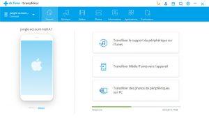 transfert de données iPhone vers un PC avec dr.phone