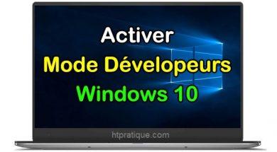 Comment activer le mode développeur sous Windows 10