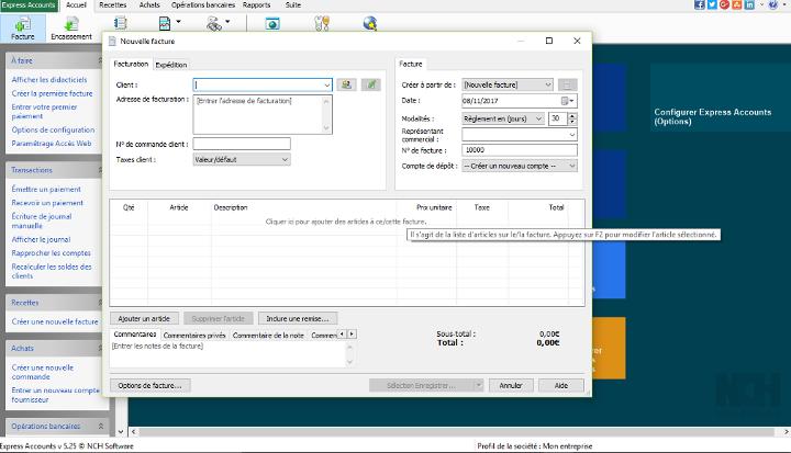 Express Accounts meilleur logiciel de comptabilité gratuit