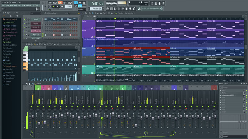 Top 11 des meilleurs logiciels de montage audio FL-Studio-Montage-vid%C3%A9o