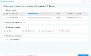 La récupération des données sur plusieurs emplacements avec UltData-Windows Data Recovery