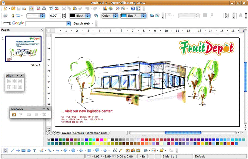 OpenOffice Draw illustrator alternative