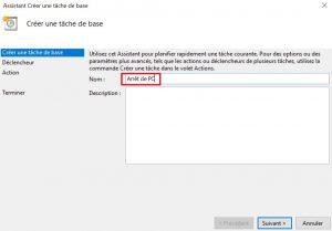 Planifier arrêt de votre PC sous Windows 10
