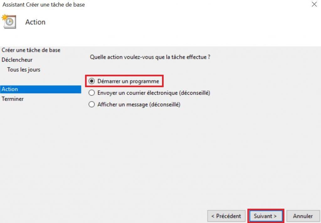 Programmer arrêt automatique de votre PC sous Windows 10