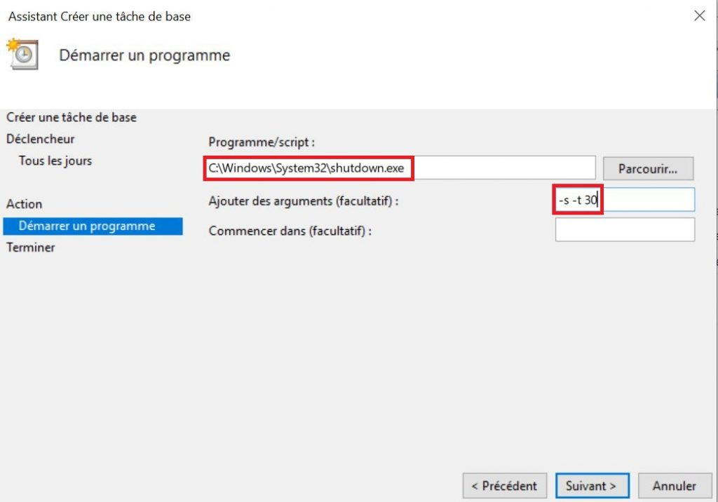 comment programmer l u2019arr u00eat automatique de son pc sous windows 10