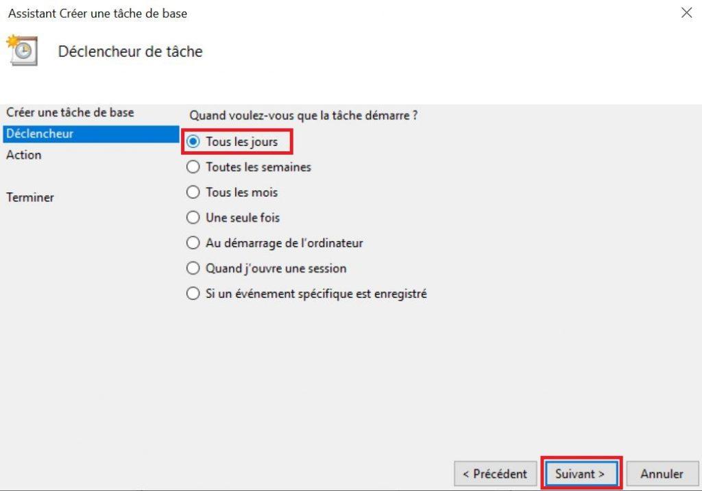 arrêt de votre ordinateur sous Windows 10