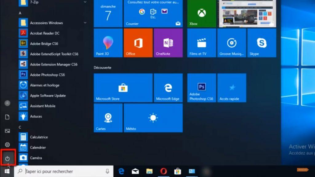 vérifier si la mise en veille prolongée sur Windows n'est pas activée