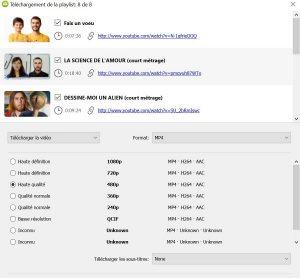 Choisir la qualité de téléchargement avec 4K Vidéo Downloader