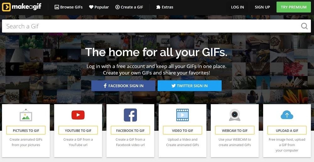 Makeagif est un service en ligne qui permet en quelques secondes seulement de créer un gif