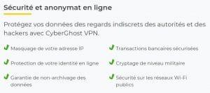 Sécurité et confidentialité du VPN