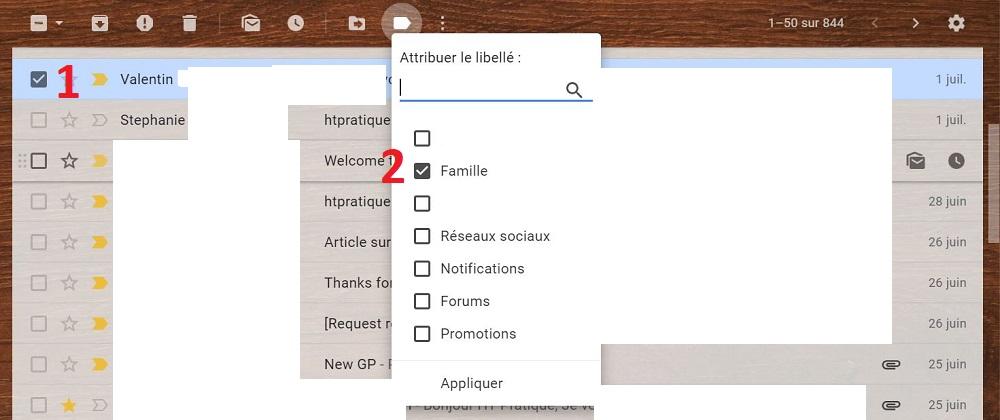 ajouter des expéditeurs à un dossier Sur Gmail