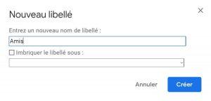 renommer un libellé dans Gmail