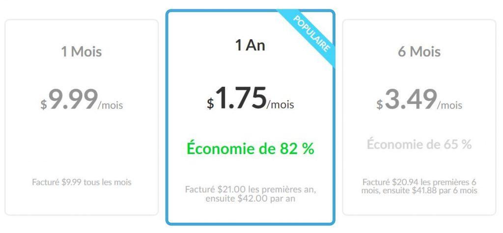 Combien faut-il pour acquérir ZenMate