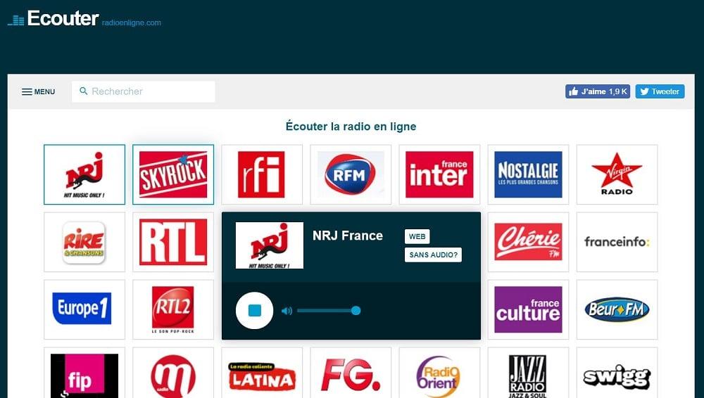 Le site Écouter Radio en ligne