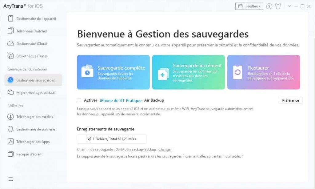 Pourquoi sauvegarder ses données iPhone avec AnyTrans avant la mise à jour iOS