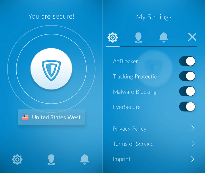 interface ZenMate VPN