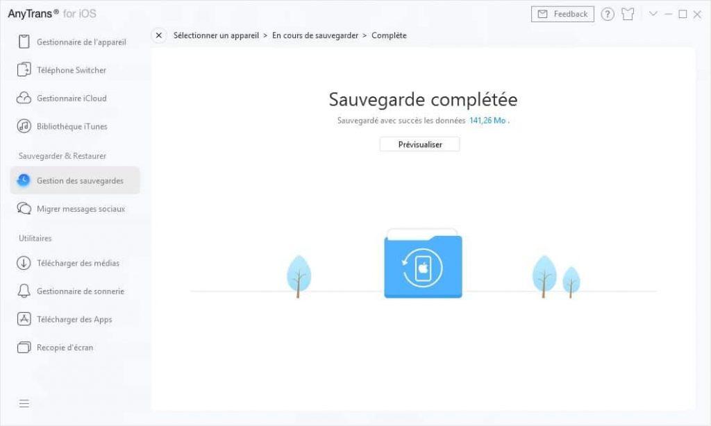 transférer les données iphone AnyTrans pour iOS