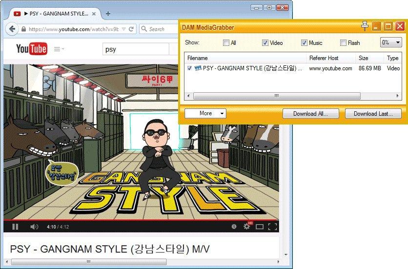 Download Accelerator Manager pour récupérer des vidéos sur youtube