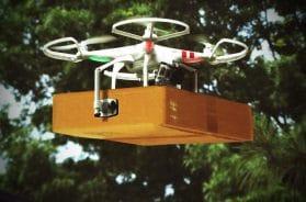 Livrer de la marchandise avec des drones
