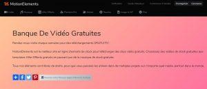 Motions Elements site de téléchargement des vidéos